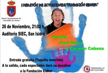I Maratón de actuaciones 'Fundación Eidher': un acto de humor y solidaridad