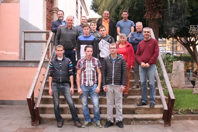 Estudiantes de Lituania en prácticas en empresas del municipio