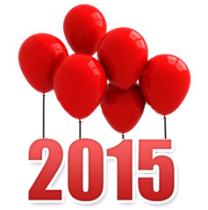Año 2015 globos