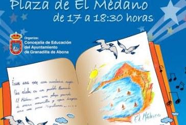 'Cuentacuentos' en la plaza de El Médano con motivo del 'Día del Libro'
