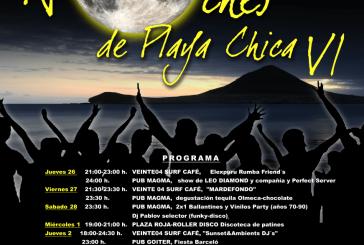 'Las Noches de Playa Chica' y la IV edición de la 'Roller Disco'