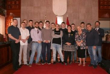 Estudiantes europeos de Erasmus en prácticas en el Ayuntamiento