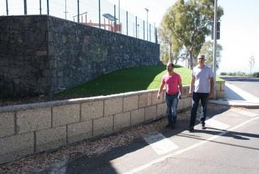 Finalizadas las obras de mejoras del entorno del complejo deportivo y campo de fútbol del Casco