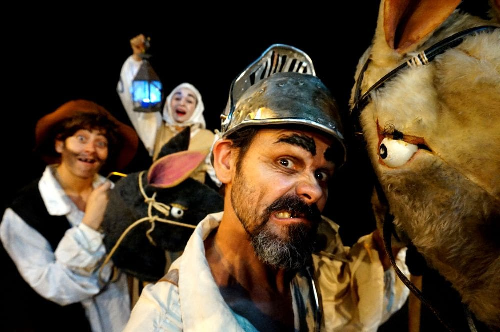 La obra 'Quijote Aventuras' de la compañía Delirium Teatro, este viernes en el Centro Cultural de San Isidro