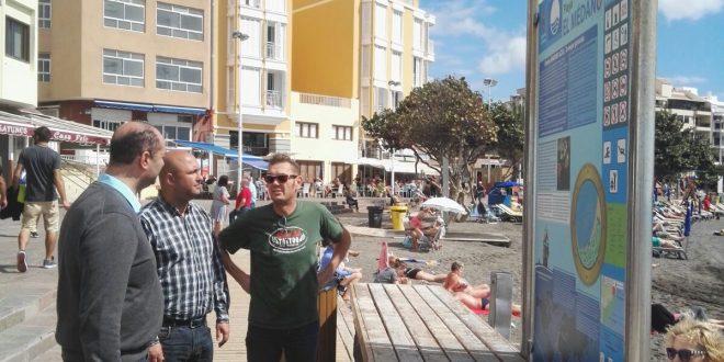 Sustitución de los antiguos paneles interpretativos por otros nuevos en el litoral de El Médano con un coste de unos 7.000 euros
