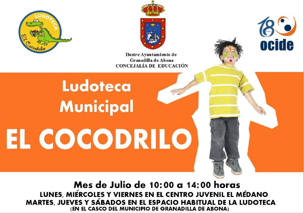 La Ludoteca Municipal 'El Cocodrilo', de servicio durante julio en El Médano y el Casco