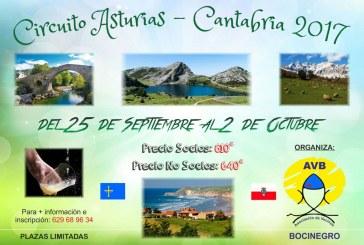 Plazas disponibles para el viaje a Asturias y Cantabria del 25 de septiembre organizado por la A.V. Bocinegro