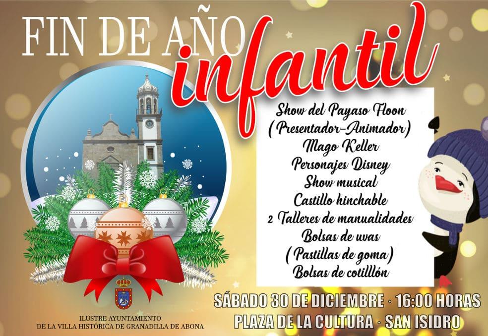 'Fin de Año Infantil' este sábado en la Plaza de la Cultura de San Isidro