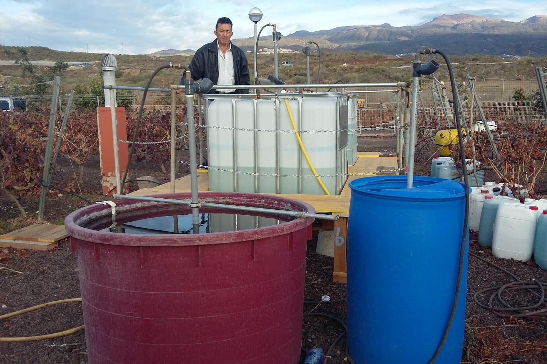 El 'mezclador de productos fitosanitarios' de Rosendo Suárez Martín
