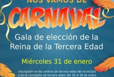 La actividad '¡Nos vamos de Carnaval! Gala del Carnaval de Tercera Edad', este miércoles