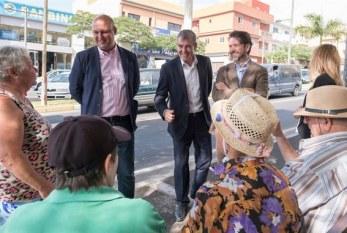 Las 'dos caras' de la visita institucional del presidente del Gobierno de Canarias  al municipio el pasado 9 de noviembre