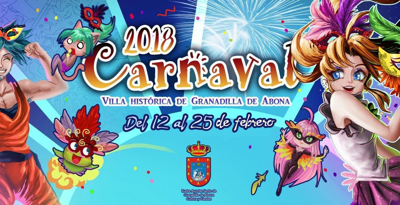 Carnaval 2018 en Granadilla de Abona con el 'Carnaval Manga' como tema