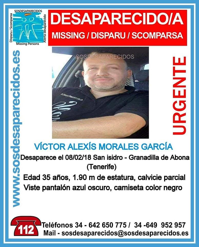 Víctor Alexis Morales García, vecino de San Isidro, desaparecido y ¿encontrado?