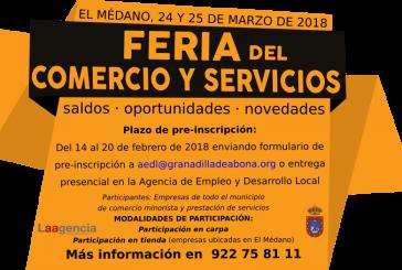 Abierto el plazo de pre-inscripción a la 'Feria del Comercio y Servicios' 2018, que finaliza este martes