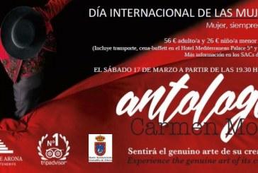 La cena-espectáculo 'Antología' de Carmen Mota, este sábado con motivo del 'Día Internacional de la Mujer'