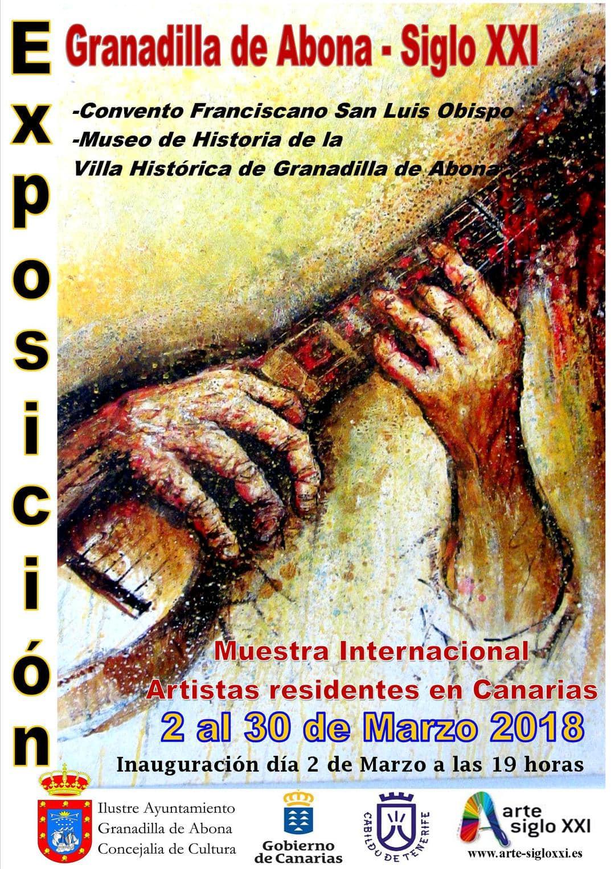 La exposición colectiva internacional de arte contemporánea  'Granadilla de Abona Siglo XXI', hasta el 30 de marzo en el Casco