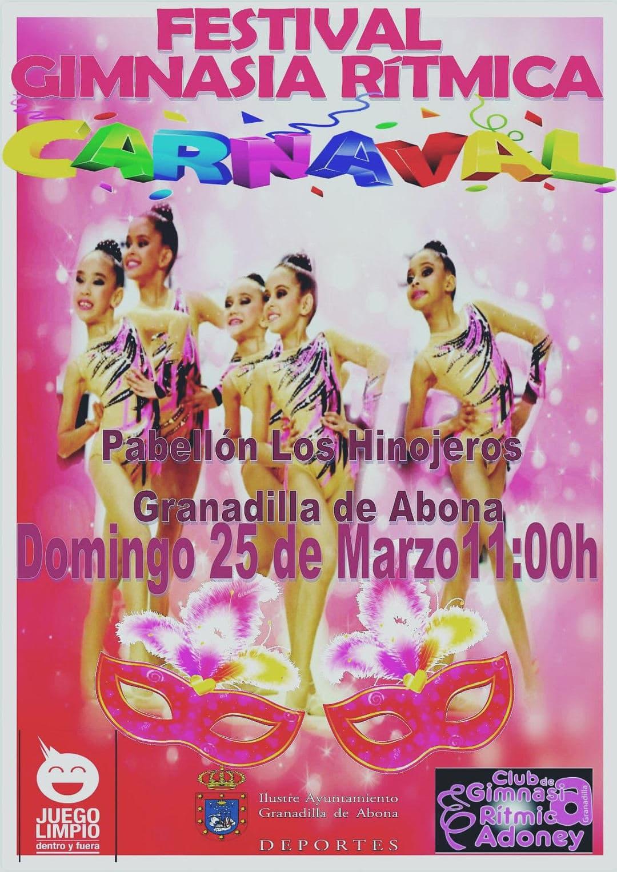 'Festival de Carnaval de Gimnasia Rítmica', este domingo en el Pabellón Municipal de Deportes