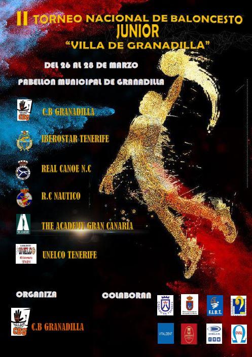 El II Torneo Nacional de Baloncesto Junior 'Villa de Granadilla', desde hoy hasta el miércoles en el Pabellón Municipal