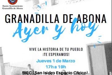 El taller 'Granadilla de Abona, Ayer y Hoy', este jueves a las 17:00 horas en el SIEC