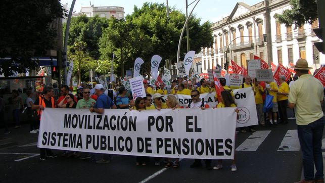 Con el lema 'Insistir, persistir, resistir, nunca desistir¡¡', manifestación por las pensiones este sábado en Santa Cruz