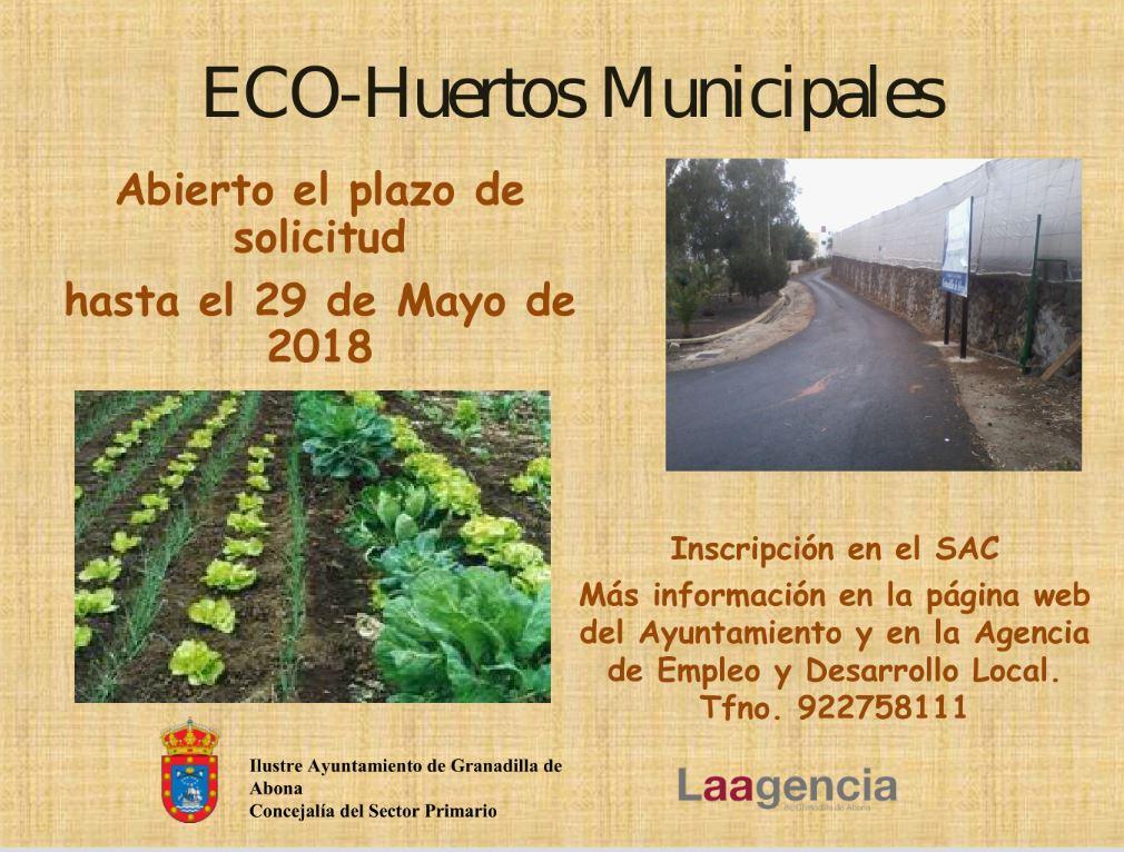El plazo para solicitar la adquisición de 'eco-huertos municipales' finaliza este martes 29 de mayo