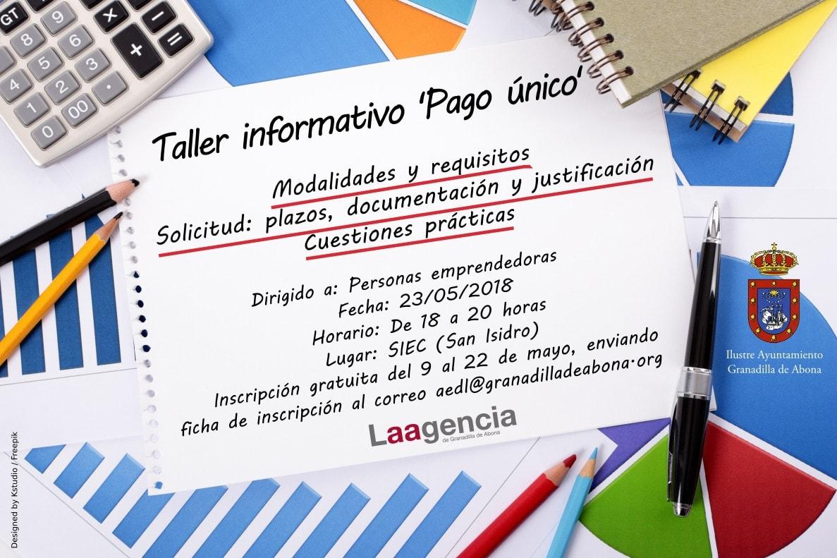 Hoy finaliza el plazo de inscripción para el taller informativo 'Pago Único' de este miércoles en el SIEC