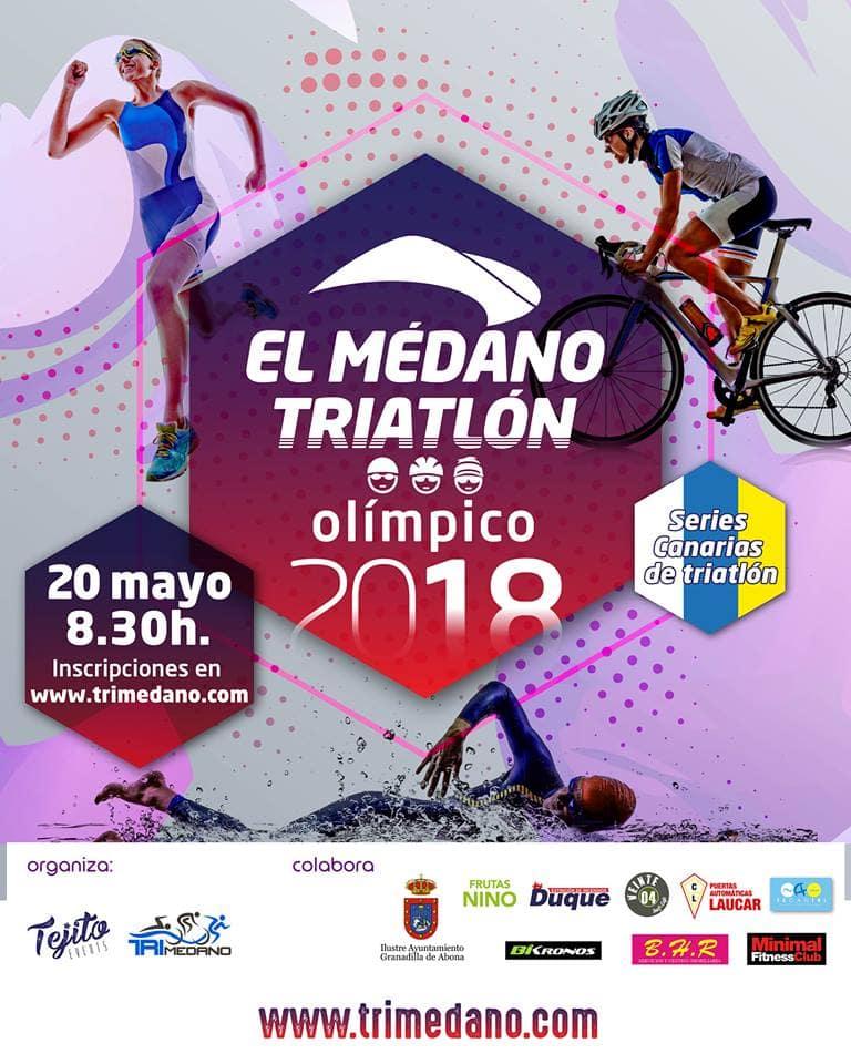 'El Médano Triatlón Olímpico 2018', este domingo a las 8:30 horas