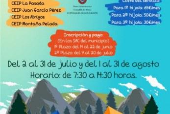El primer plazo para inscribir a l@s niñ@s de infantil y primaria al 'Campamento de Verano 2018' finaliza el 22 de junio