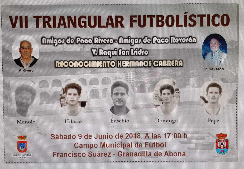 El 'Triangular Futbolístico Amigos Paco Rivero – Amigos Paco Reverón – Veteranos Raqui San Isidro', este sábado en el Casco con homenaje a los hermanos Cabrera