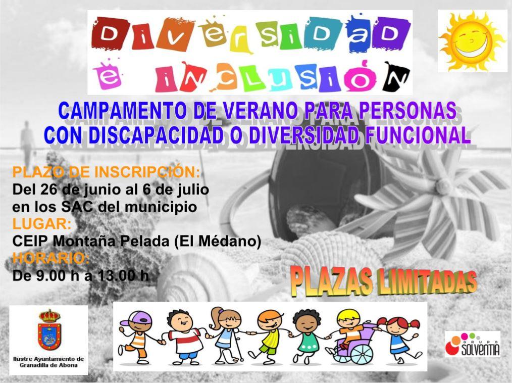 La inscripción al 'Campamento de Verano para Personas con Discapacidad o Diversidad Funcional' finaliza este viernes 6 de julio