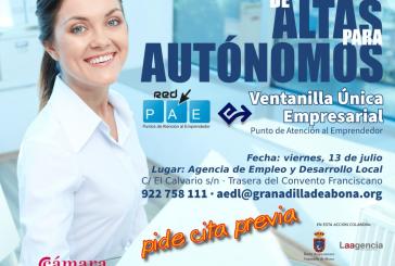 El servicio de 'Ventanilla Única Empresarial' para darse de alta como autónom@ de forma gratuita comienza su actividad este viernes en la AEDL