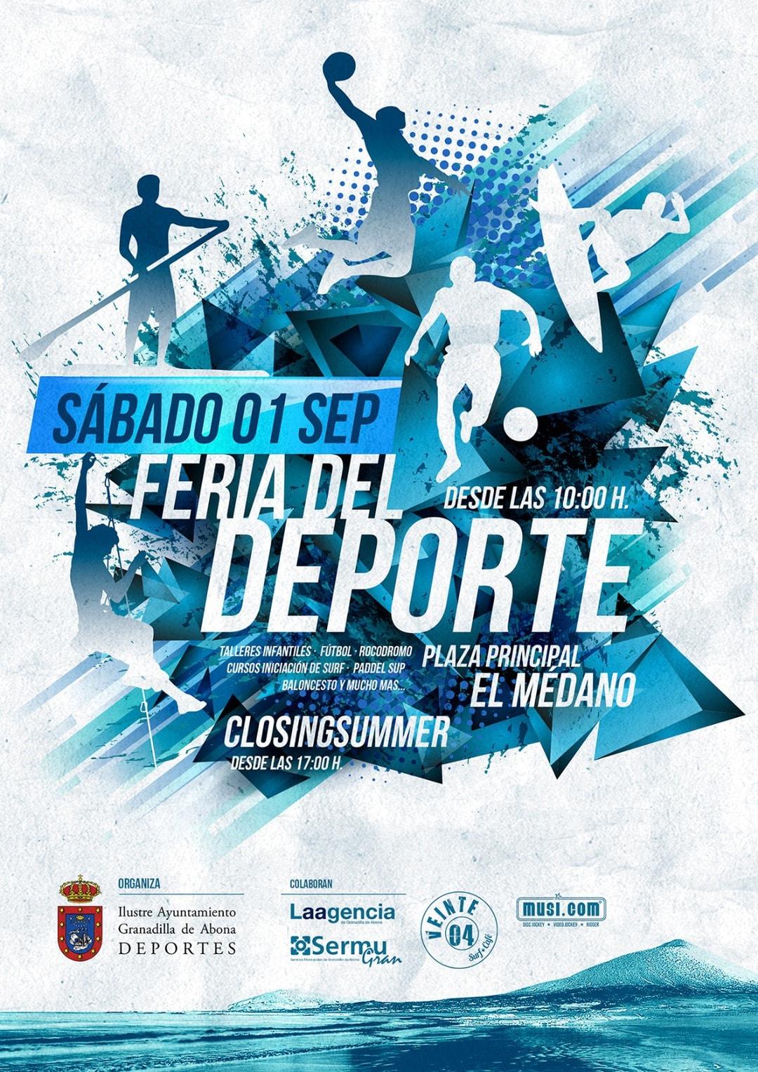 La 'Feria del Deporte 2018' y 'Closing Summer', este sábado en El Médano