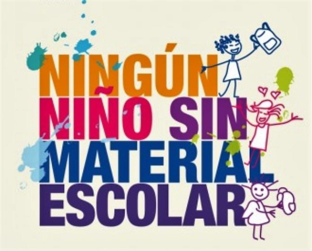 Campaña de recogida de material escolar de la OMRS para el curso 2018-2019