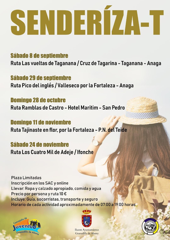 El plazo para inscribirse a la Ruta 'Hotel Maritim – San Pedro – Ramblas de Castro' del domingo día 28 de octubre finaliza el próximo jueves