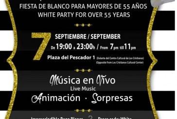 La 'Fiesta de Blanco' para mayores de 55 años de Arona, este viernes en Los Cristianos con transporte gratuito desde Granadilla de Abona