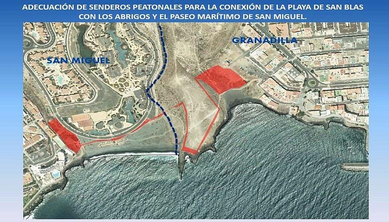 Demandan que el nuevo paseo que transcurrirá entre San Blas y Los Abrigos se conecte con el actual acceso a la playa (y II)