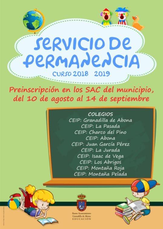 El plazo de preinscripción para el 'Servicio de Permanencia de Tarde' finaliza hoy