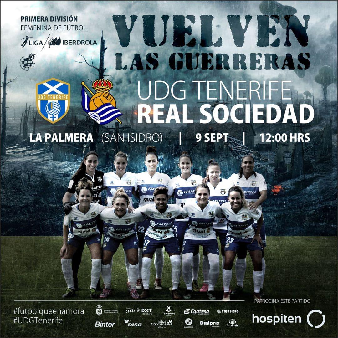 Una nueva e ilusionante temporada comienza este domingo para la 'UD Granadilla Tenerife Egatesa' a las 12:00 horas contra la Real Sociedad ante su afición
