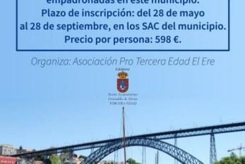 El plazo de inscripción al 'Viaje a Portugal' para mayores de 55 años finaliza este viernes 28 de septiembre