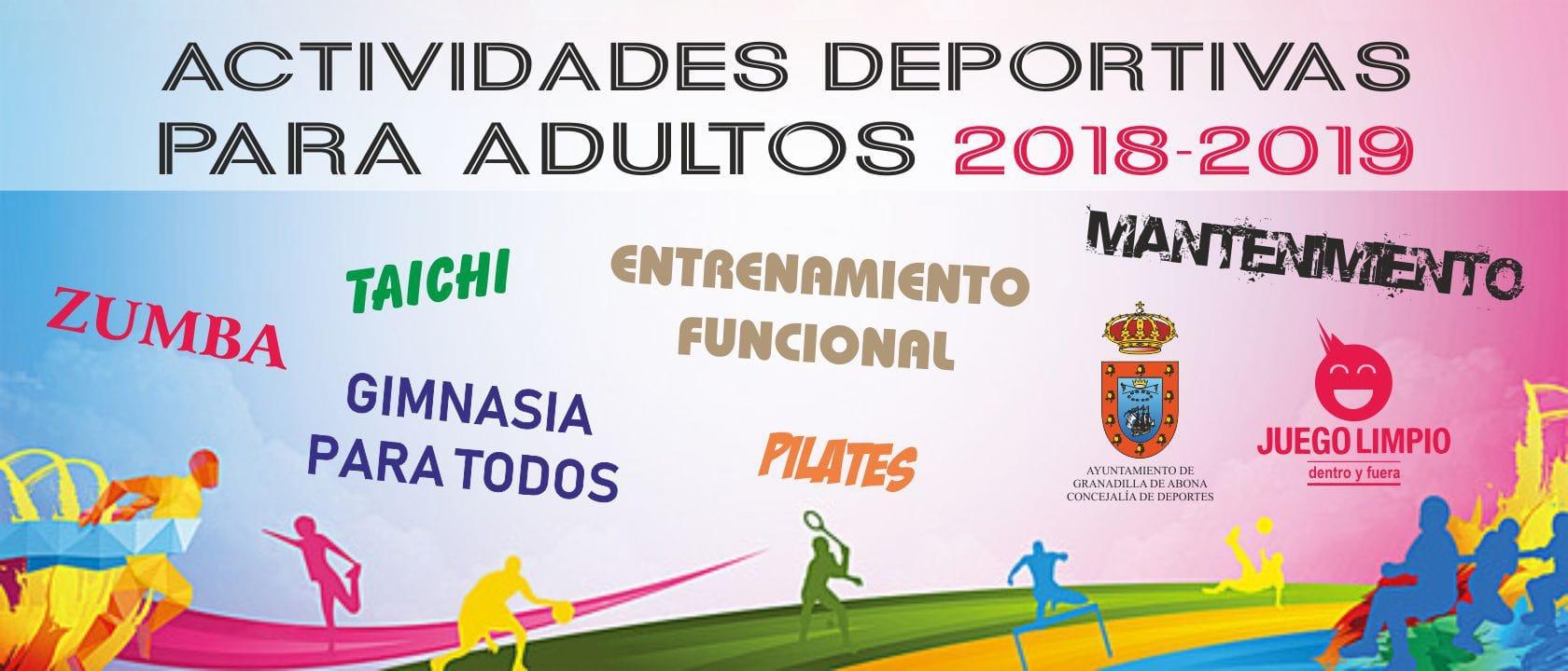 La inscripción a las 'Actividades Deportivas para Adultos 2018-2019' sigue abierta