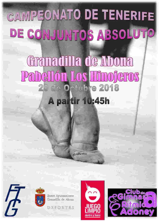 El 'Campeonato de Tenerife de Conjuntos Absoluto de Gimnasia Rítmica', este sábado en el Pabellón Municipal