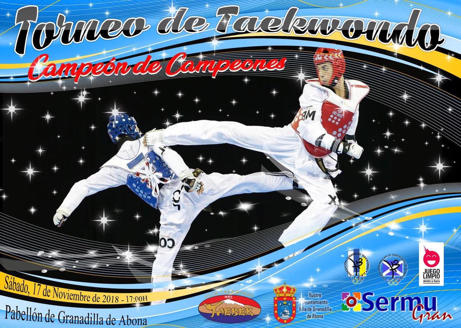 El 'Campeonato de Taekwondo-Campeón de Campeones', este sábado en el Pabellón Municipal de Deportes