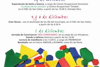 Las actividades con motivo del 'Día Internacional de las Personas con Discapacidad' comienzan este jueves