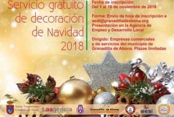 La inscripción al 'Servicio de Decoración de Navidad' gratuito para empresas finaliza este viernes