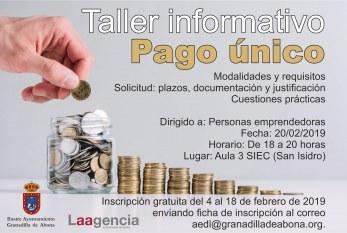 La inscripción al taller informativo sobre 'Pago Único' del día 20 finaliza el próximo lunes