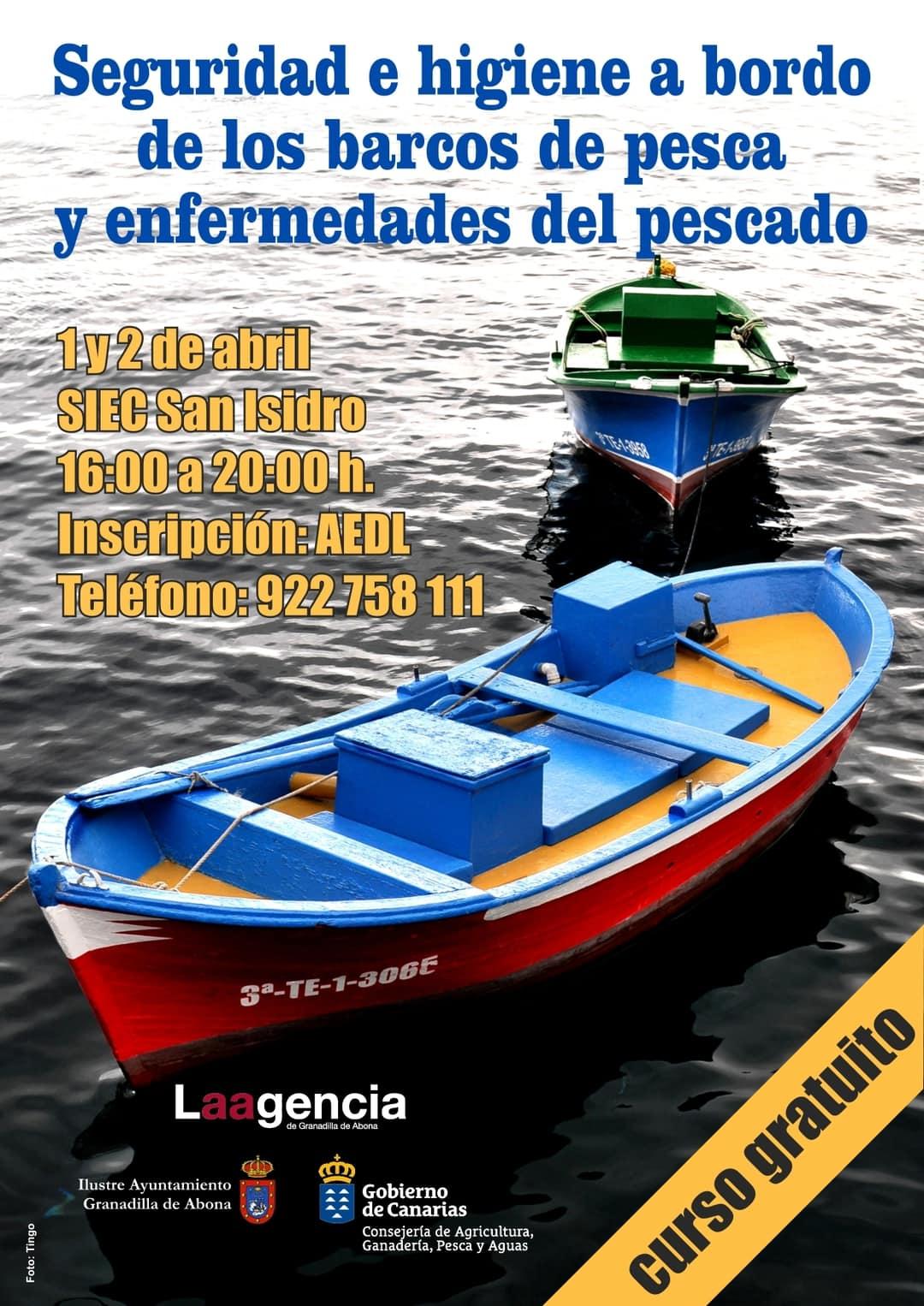 El curso gratuito 'Seguridad e higiene a bordo de los barcos de pesca y enfermedades del pescado', este lunes y martes en el SIEC
