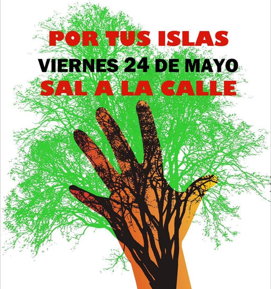 Manifestación Popular a las 18:00 horas de este viernes en la capital tinerfeña con el lema '¡Por una Canarias limpia y sostenible, no más atentados medioambientales! ¡Basta ya de corrupción!'