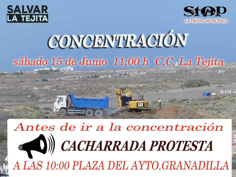 'Concentración en La Tejita' contra la construcción del hotel este sábado a las 11:00 horas bajo el lema 'La Tejita no se toca', y 'Festival Internacional de la Crítica' a las 17:00 horas