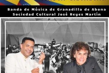 El espectáculo musical 'Venezuela habla cantando', con Rafael Flores 'El Morocho', Oswaldo Rodríguez 'Sobrino de El Puma' y la Banda de Música 'Sociedad Cultural José Reyes Martín', este sábado en El Médano