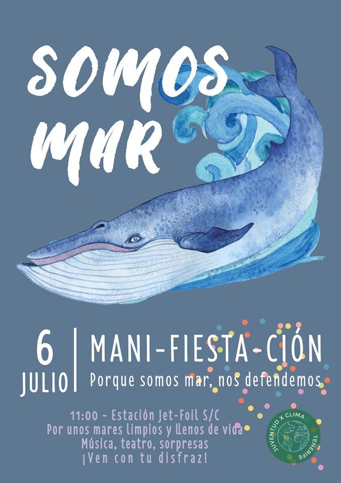 Mani-FIESTA-ción 'Somos Mar', este sábado en Santa Cruz a las 11:00 horas